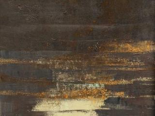 Dorte Boe - 40x40 square slate 04 black rust