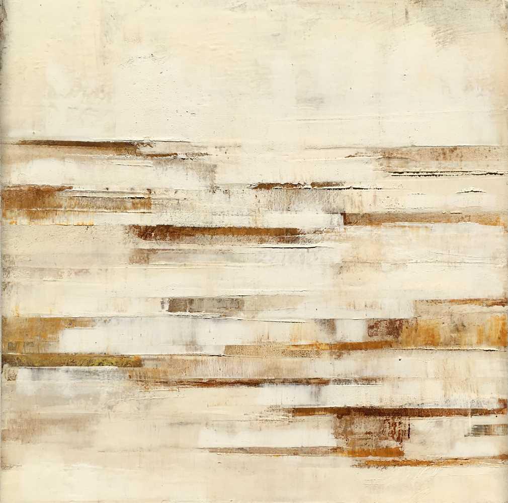 Dorte Boe - 40x40 square slate 05 white rust